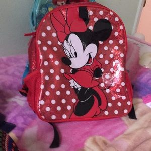 Minnie Mouse red backpack